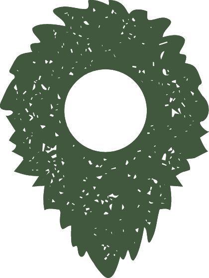 Sasquatch fuzzy map pin