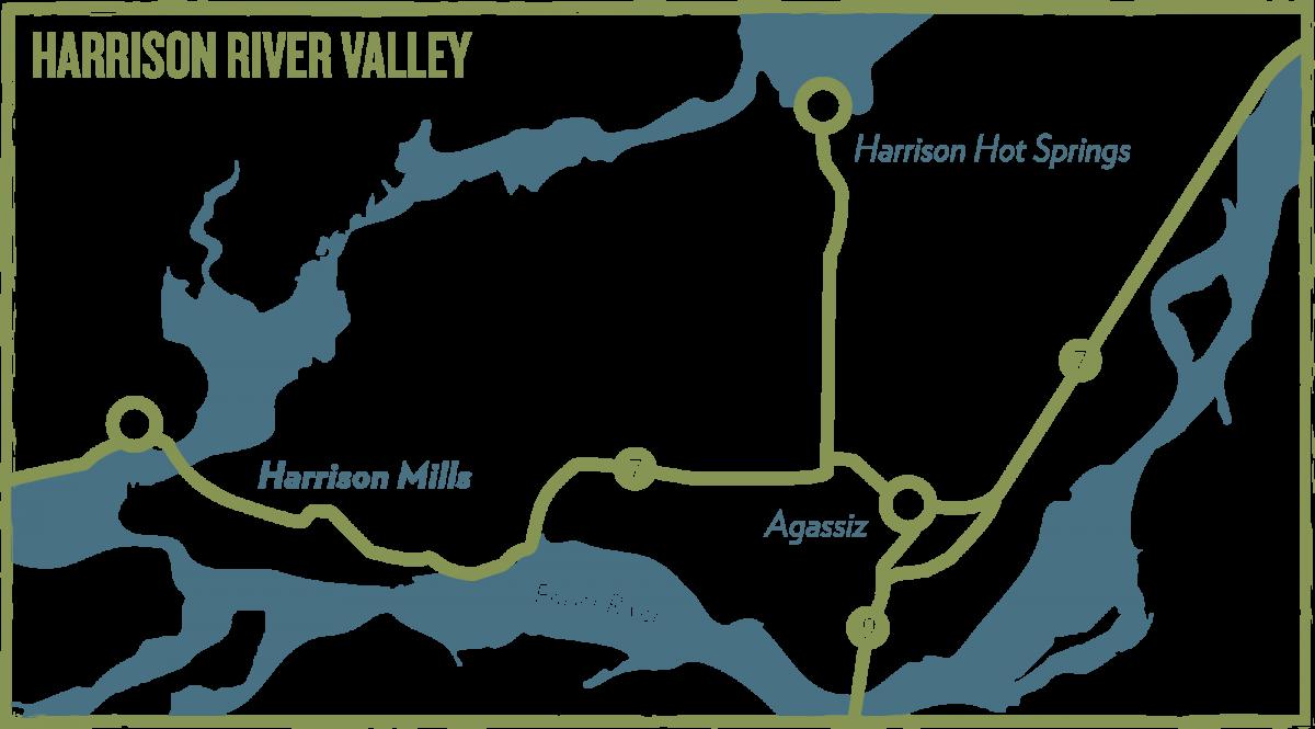 Map of Harrison Mills